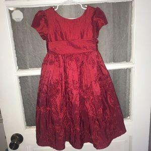 Cinderella girls red dress with sash 3t